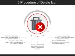 5 Procedure Of Delete Icon