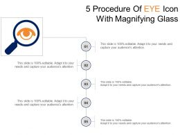 5 Procedure Of Eye Icon With Magnifying Glass