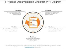 5 Process Documentation Checklist Ppt Diagram