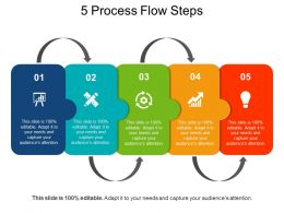 5 Process Flow Steps PowerPoint Slide Background