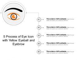 5 Process Of Eye Icon With Yellow Eyeball And Eyebrow