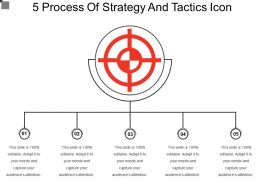 5 Process Of Strategy And Tactics Icon