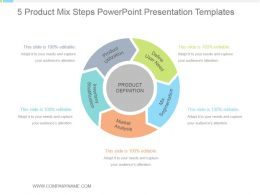 5 Product Mix Steps Powerpoint Presentation Templates