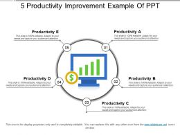 5 Productivity Improvement Example Of Ppt