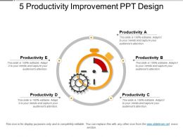 5 Productivity Improvement Ppt Design