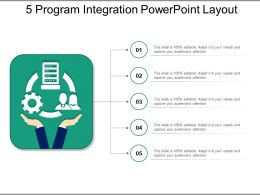 5 Program Integration Powerpoint Layout