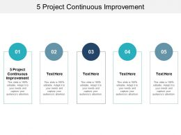 5 Project Continuous Improvement Ppt Powerpoint Presentation Styles Inspiration Cpb