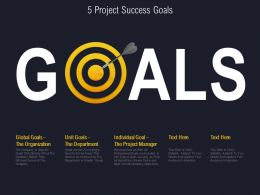 5 Project Success Goals
