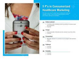 5 Ps In Consumerized Healthcare Marketing