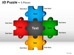 5 Puzzle Pieces Powerpoint Presentation Slides