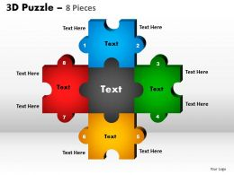 5 Puzzle Pieces Rectangular Diagram 3