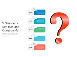 5 Questions With Icon And Question Mark
