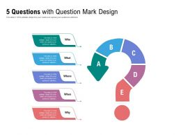 5 Questions With Question Mark Design