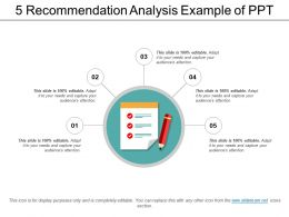 5 Recommendation Analysis Example Of Ppt