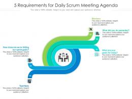 5 Requirements For Daily Scrum Meeting Agenda