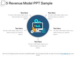 5 Revenue Model Ppt Sample