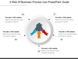5 Risk Of Business Process Icon Powerpoint Guide