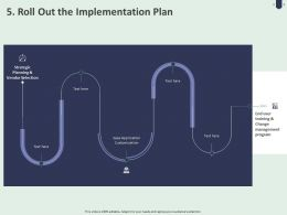 5 Roll Out The Implementation Plan Ppt Powerpoint Presentation Gallery Backgrounds