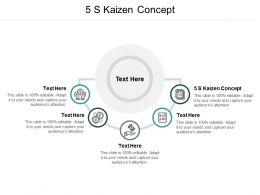 5 S Kaizen Concept Ppt Powerpoint Presentation Show Slide Portrait Cpb