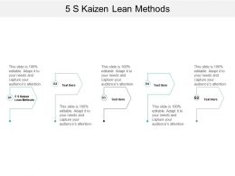 5 S Kaizen Lean Methods Ppt Powerpoint Presentation Layouts Example Introduction Cpb