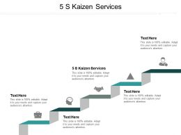5 S Kaizen Services Ppt Powerpoint Presentation Graphics Cpb