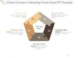 5 Sales Concept In Marketing Puzzle Good Ppt Example