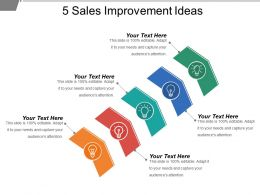 5 Sales Improvement Ideas Powerpoint Layout