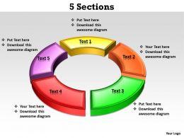 5 Sections circular 3