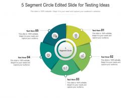5 Segment Circle Edited Slide For Testing Ideas Infographic Template