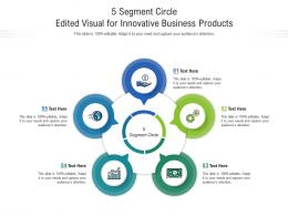 5 Segment Circle Edited Visual For Innovative Business Products Infographic Template