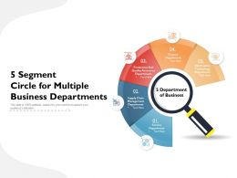5 Segment Circle For Multiple Business Departments