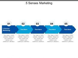 5 Senses Marketing Ppt Powerpoint Presentation File Demonstration Cpb