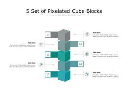 5 Set Of Pixelated Cube Blocks