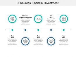 5 Sources Financial Investment Ppt Powerpoint Presentation Pictures Designs Cpb