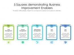 5 Squares Demonstrating Business Improvement Enablers