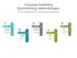5 Squares Exhibiting Brainstorming Methodologies