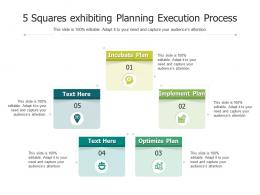 5 Squares Exhibiting Planning Execution Process