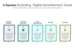 5 Squares Illustrating Digital Advertisement Goals