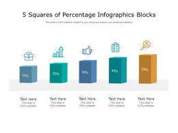 5 Squares Of Percentage Infographics Blocks