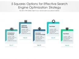 5 Squares Options For Effective Search Engine Optimization Strategy