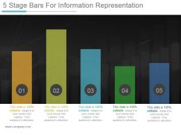 5 Stage Bars For Information Representation Powerpoint Templates