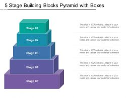 5 Stage Building Blocks Pyramid With Boxes