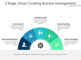 5 Stage Circle Covering Business Management