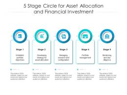 5 Stage Circle For Asset Allocation And Financial Investment