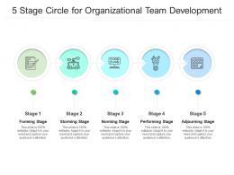 5 Stage Circle For Organizational Team Development