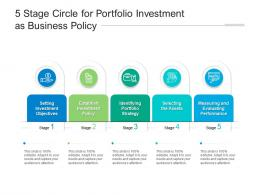 5 Stage Circle For Portfolio Investment As Business Policy