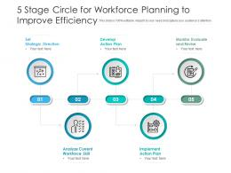 5 Stage Circle For Workforce Planning To Improve Efficiency