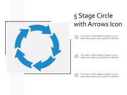 5 Stage Circle With Arrows