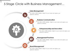 5 Stage Circle With Business Management Practices