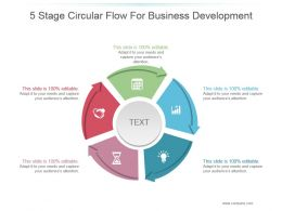 5 Stage Circular Flow For Business Development Good Ppt Example